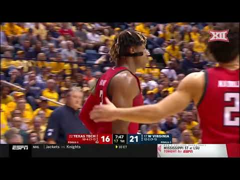Texas Tech At West Virginia Men's Basketball Highlights
