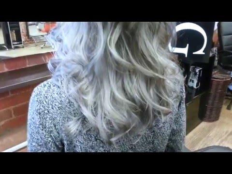 Окрашивание волос в серый цвет. Антоцианин