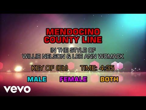Willie Nelson & Lee Ann Womack - Mendocino County Line (Karaoke)
