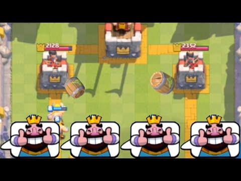 Clash Royale - Mirrored Goblin Barrels = INSANE! (Troll Deck)