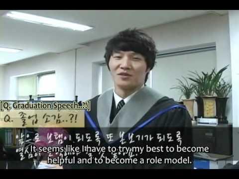 [Engsub] Kim Jong Kook's Interview @ His Graduation