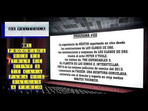 DE PELICULA - programa de TV de cine - Globos de oro 2014 / Frozen / Walter Tournier / Expendables 3