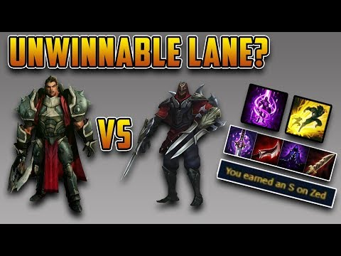 HOW TO WIN AN IMPOSSIBLE LANE - Zed vs Darius Season 7 - [League of Legends]