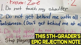 Little Girl Writes EPIC Warning Note To Boy Who Has Crush On Her