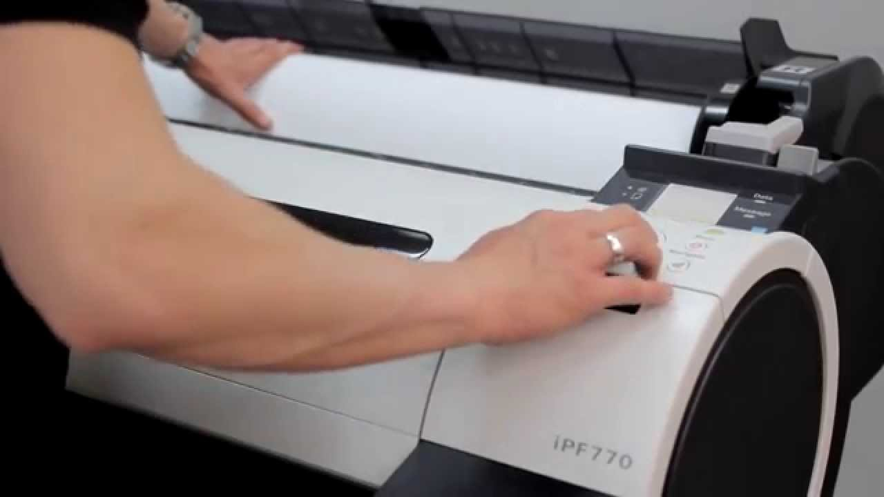 How To Install Plotter Canon Imageprograf Ipf670 Ipf770 Youtube