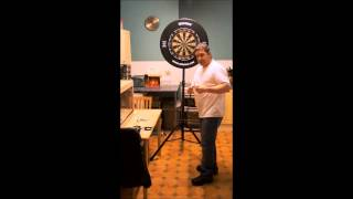 The DartsBuddy popup portable Dartboard stand with FREE Oche mate