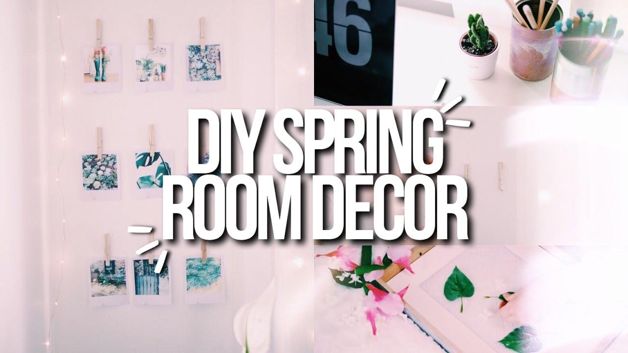 Diy spring room decor 2017 cute easy cheap youtube for Cute cheap home decor
