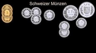 Geldmünzen zählen, die im deutschsprachigen Raum benutzt werden