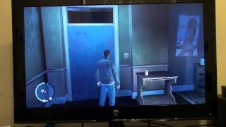 GTA IV gameplay PC w/xbox controller 32 inch monitor