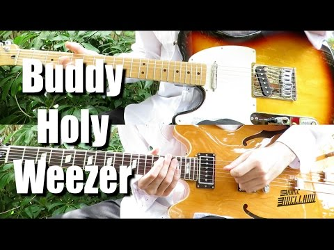 Buddy Holly - Weezer ( Guitar Tab Tutorial & Cover )