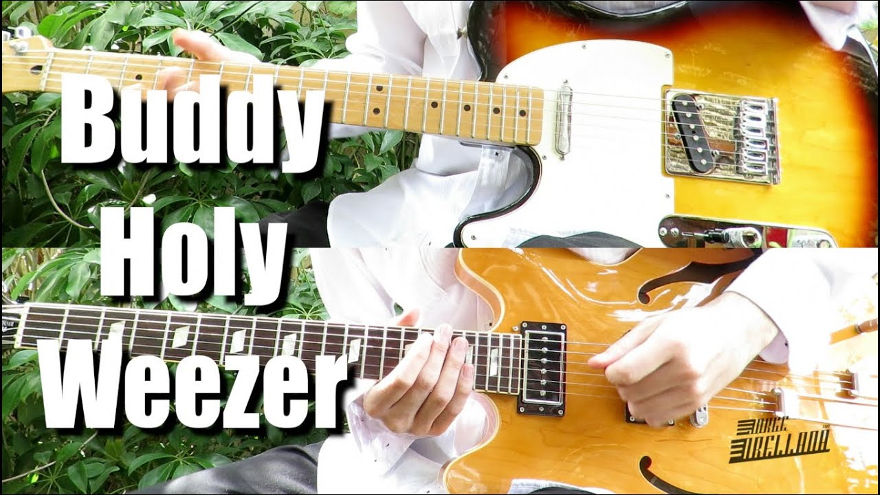 Buddy Holly Weezer Guitar Tab Tutorial Cover Youtube