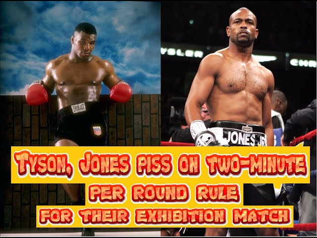 Mike Tyson, Roy Jones piss on two minutes per round rule for their exhibition match?