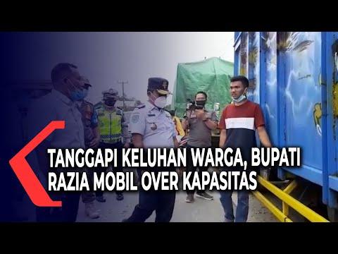 Tanggapi Keluhan Warga, Bupati Lampung Selatan Razia Mobil Besar Perusak Jalan