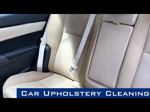 Stain Removal From Car Upholstery