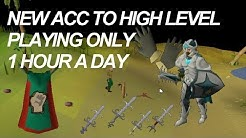 How To Build A RS Acc Efficiently || Playing 1 Hour/Day (Days 1-7)