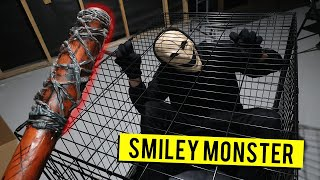 (SCARY) CAPTURING SMILEY MONSTER IN MY BASEMENT AT 3AM!! *ACTUALLY WORKED*