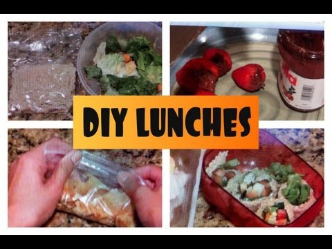 Diy lunch ideas back to school howtobyjordan youtube for Easy diy lunches