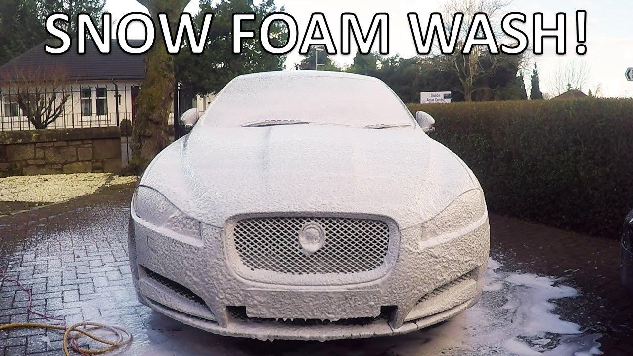 how to make snow foam car wash