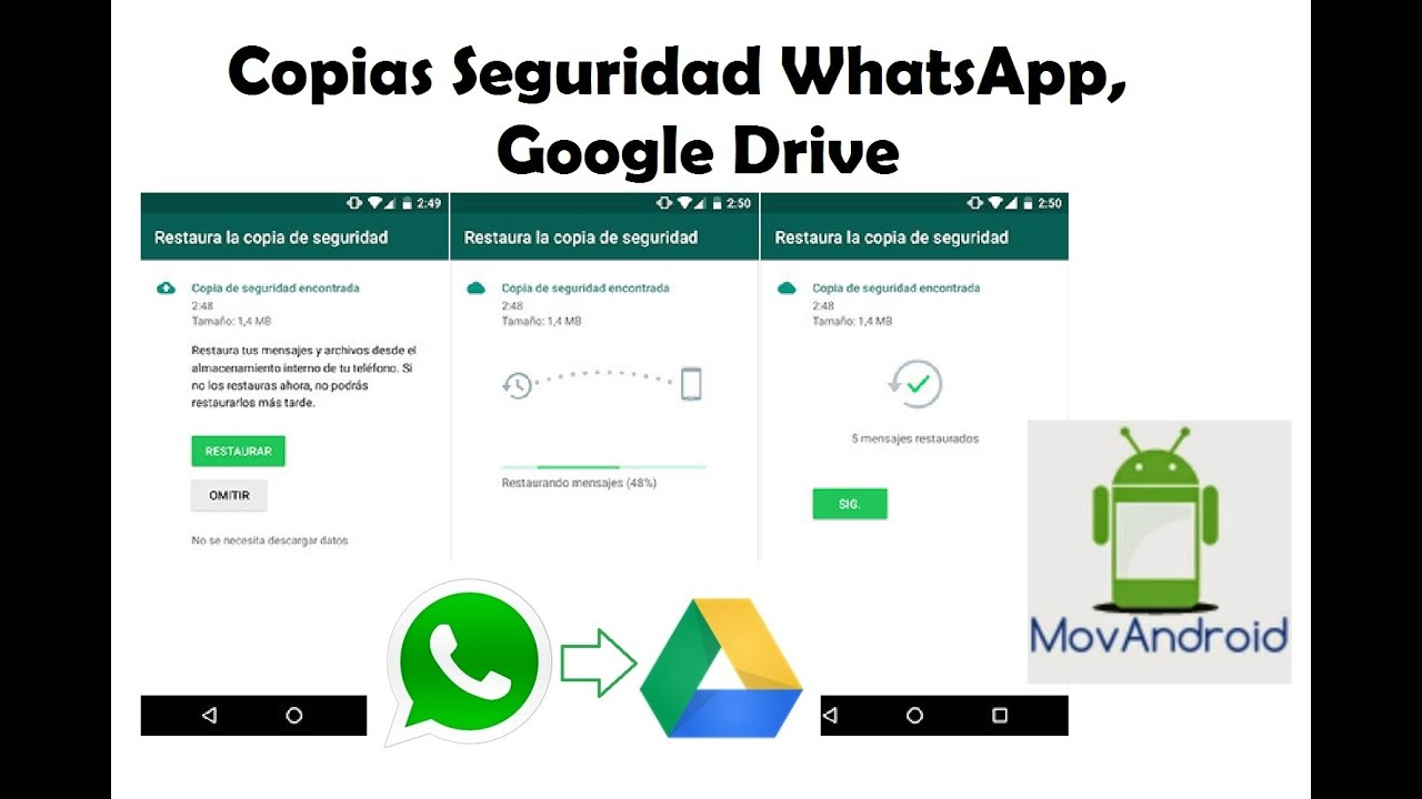 copia seguridad whatsapp google drive