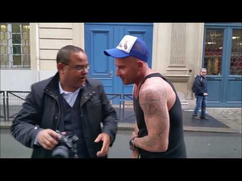 DOMINIC PURCELL SHOOT in the streets of Paris with Abdou HILALI for PREMIUM MAGAZINE and BAUSELE USA