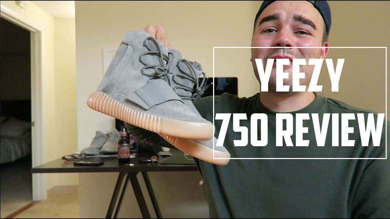 3594d07c6ad4 Glow In The Dark Yeezy Boost 750 Grey Gum Unboxing! - YouTube