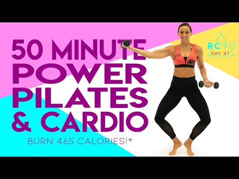 50 Minute Power Pilates and Cardio Workout 🔥Burn 465 Calories!* 🔥 Day 47