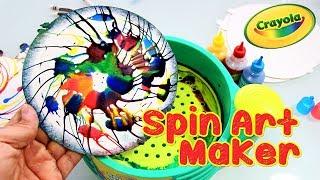 Spin Art Maker   DIY Make Fun Swirly Spin Art Paint Toy For Kids