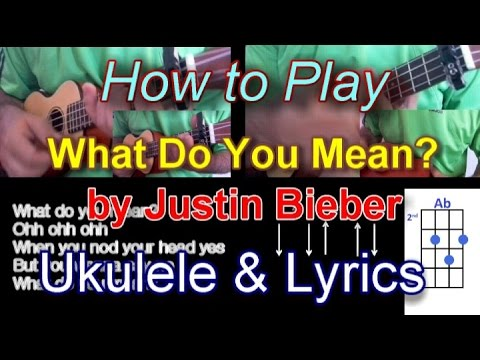 Guitar guitar chords what do you mean : How to play What Do You Mean? by Justine Bieber Ukulele Guitar ...
