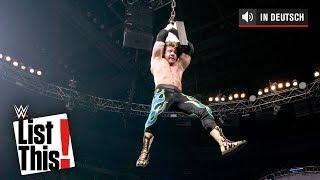 Verrückte Dinge, die über einer Leiter hingen – WWE List This! (DEUTSCH)