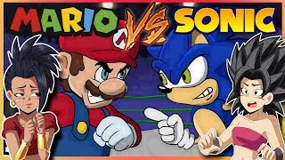 Kale and Caulifla React to Mario Vs Sonic - Cartoon Beatbox Battles