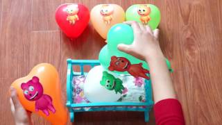 Five Little #Jumping on the Bed #Mega Gummy bear #Nursery Rhymes Lyrics and More #2 Surprise Fun