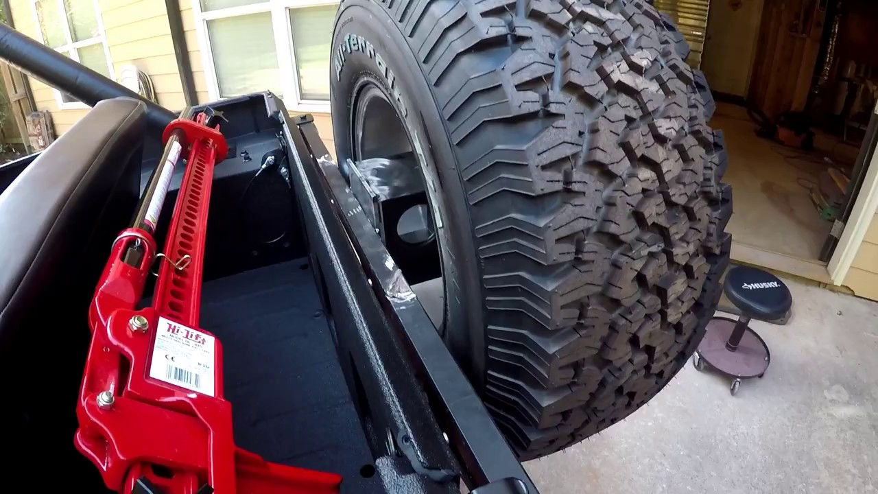 jeep cj7 update 14 spare tire carrier surgery youtube. Black Bedroom Furniture Sets. Home Design Ideas