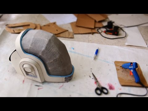#62: Guy-Manuel (Daft Punk) Helmet Part 1 - Cardboard (free PDF) | How To | Dali DIY
