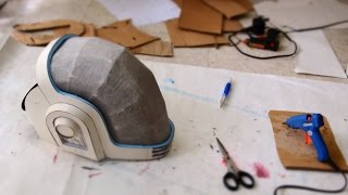 #62: Guy-Manuel (Daft Punk) Helmet DIY Part 1 - Cardboard (free template)