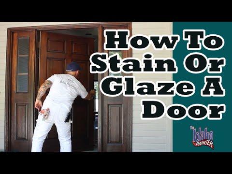 Bon REFINISHING A FRONT DOOR Lacquering A Door. How To Refinish An Old Door.