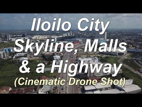 Iloilo City - Skyline, Malls & a Highway (B.S. Aquino Jr. Ave.) - Cinematic Drone Shot - 2K HD
