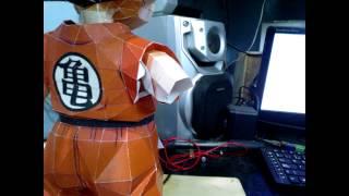 Papercraft Goku kid StopMotion
