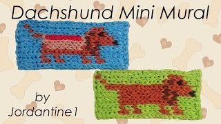 New Dachshund Weiner Hot Dog Mini Mural - Rainbow Loom - Rubber Band - Easy - Halloween