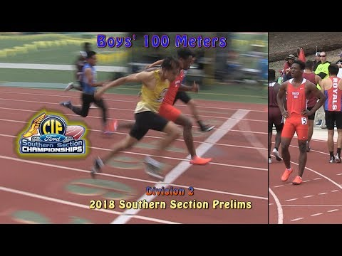 2018 TF - CIF-ss Prelims (D2) - 100 (Boys, 6 Heats)