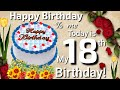 13 May Happy 18th Birthday Best Song | 18th Birthday Status Video | Happy Birthday To You Song