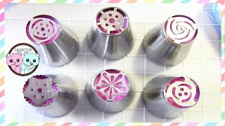 RUSSIAN PIPING TIPS, RUSSIAN TIPS, RUSSIAN PASTRY TIPS - SUGARCODER(Russian piping tips, russian tips - How to decorate cupcakes with buttercream flowers, buttercream roses, and buttercream tulips, using Russian pastry tips!, 2016-01-06T19:02:54.000Z)