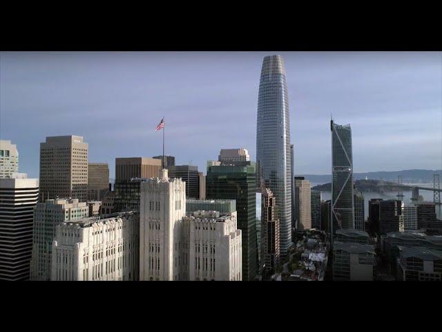 SAN FRANCISCO DOWNTOWN 4K DRONE FOOTAGE NOVEMBER 2017