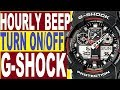How to turn on/off hourly beep on G-Shock