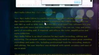 How To Get Mp3 Audio Editor Pro 7.9.5 Free with Serials & UPDATED !!