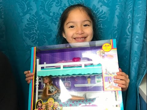 Barbie Sisters Unboxing Bunk Beds Stacie Youtube