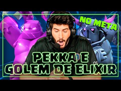 DECKS META DE GOLEM DE ELIXIR E PEKKA NO CLASH ROYALE!