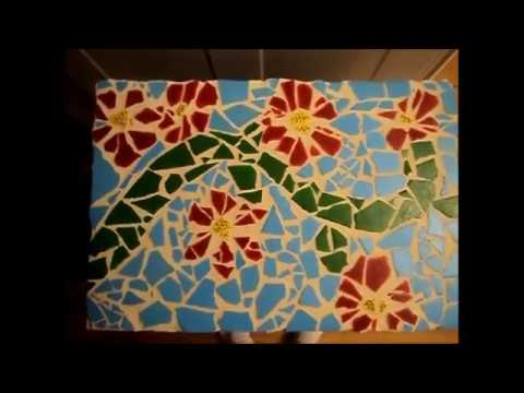How to create a mosaic tile art piece - YouTube