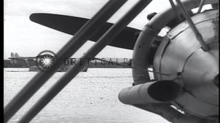 Sikorsky S-40 Pan American Clipper Seaplanes operating in Havana, Cuba HD Stock Footage