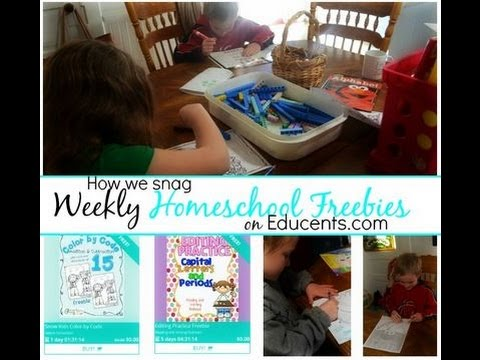 How We Use Weekly Homeschool Freebies From Educents.com in Our Homeschool