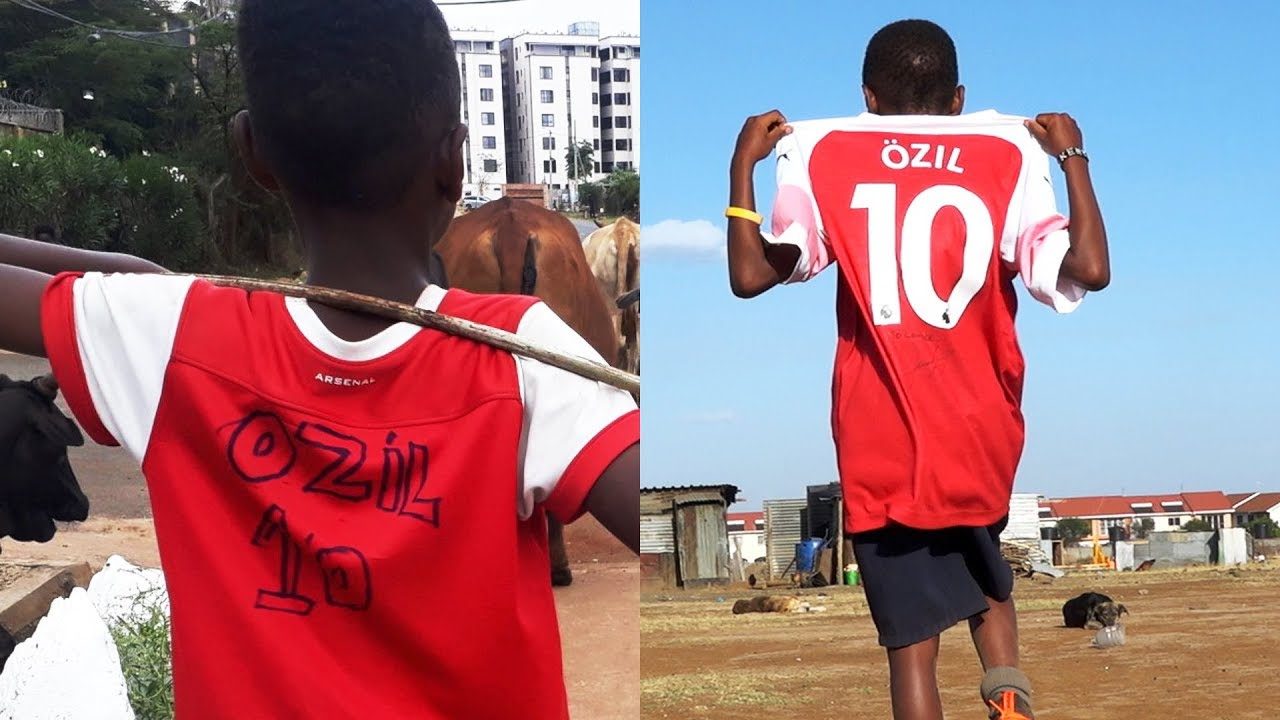 timeless design afd43 21dce 'Ozil sent me an Arsenal kit after seeing my homemade shirt' - BBC Africa
